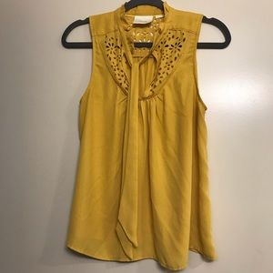 Anthropologie | Maeve Mustard Yellow Blouse, 12P